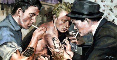 Mi último cuadro. Tattoos en 1942. Instagram: kukobaez_ #tattoo #tattooart