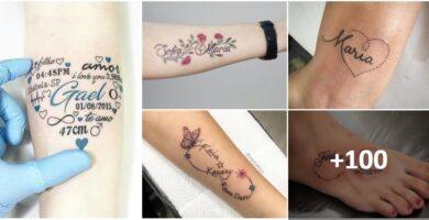 Collage Tatuajes de Nombres 100