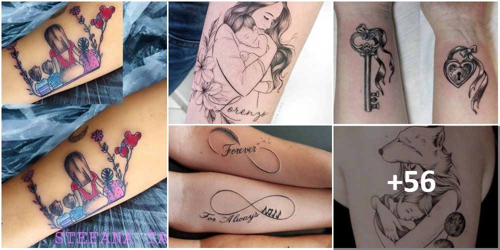 Collage Tatuajes Madres Hijos Familia