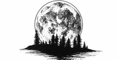 Tatuaje de luna: bocetos para hombres – mujeres, dibujos interesantes, significados