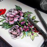 Tatuaje de peonía: bocetos para hombres – mujeres, dibujos interesantes, significados