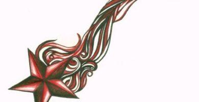 Tatuaje de estrella: bocetos para hombres – mujeres, dibujos únicos, significados