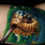 Tatuaje de serpiente: significado para niñas y hombres en el brazo, la pierna y otros lugares