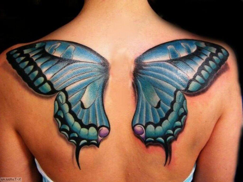 espalda azul grande