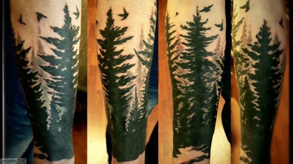 bosque negro en el brazo