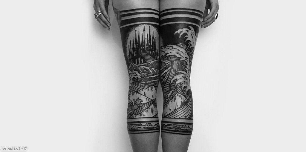 dibujo femenino de metal negro