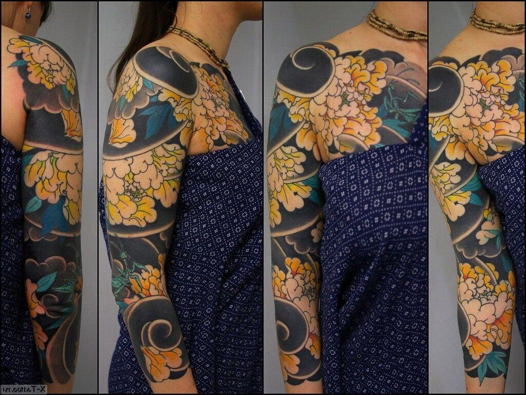 flores a lo largo del brazo