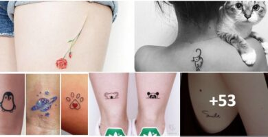 COLLAGE TATUAJES Tatuajes aesthetic super minimalistas