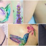 COLLAGE Tatuajes COLIBRIES MUJER
