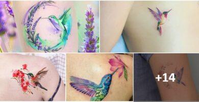 COLLAGE Tatuajes COLIBRIES MUJER