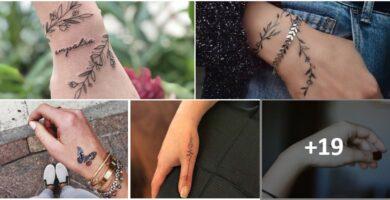COLLAGE Tatuajes Mano Mujer