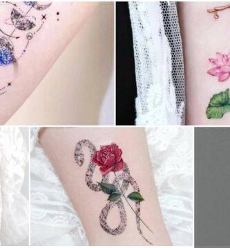 COLLAGE Tatuajes de Dagas Cruces y Accesorios de Epoca para Mujeres