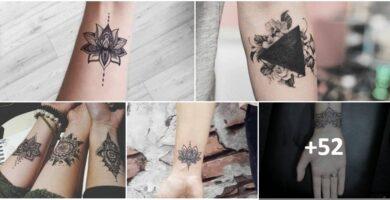 COLLAGE Tatuajes de Flor de LOTO