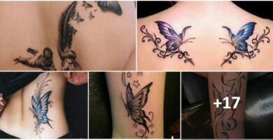 COLLAGE Tatuajes de Mariposas Azules