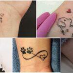 COLLAGE Tatuajes en Homenaje a Perros mascotas