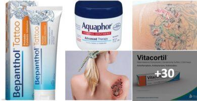 Collage Las 30 Mejores Cremas para el Cuidado de tu Tatuaje