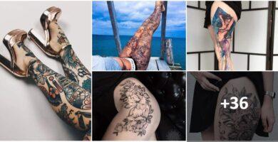 Collage Tatuajes Piernas