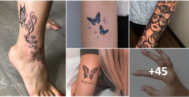 Collage Tatuajes de Mariposas