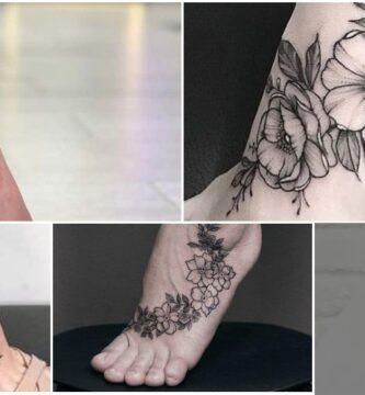 Collage tatuaje de Mujer Empeine