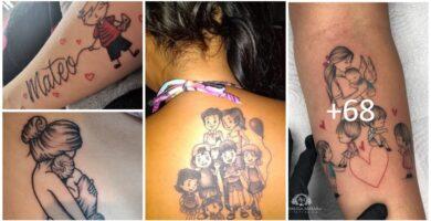 Mejores Tatuajes madre e hijos y familia 1 low 1