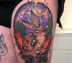 Tatuajes Navidenos conoejo reno