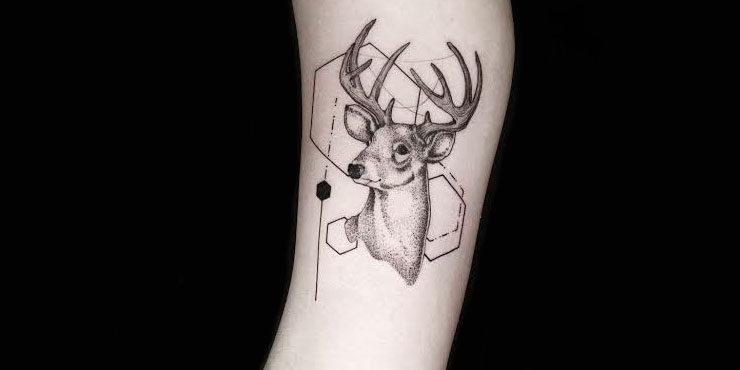 Tatuajes Navidenos mini reno