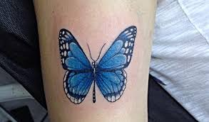 Tatuajes de Mariposas Azules en brazo 1