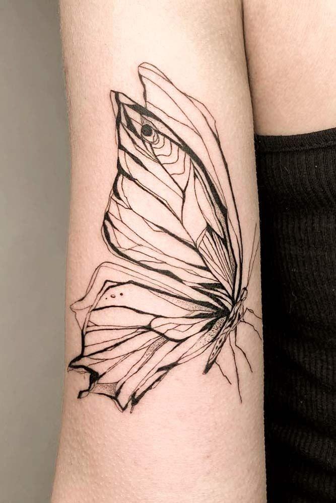 Tatuajes en el Brazo mariposa