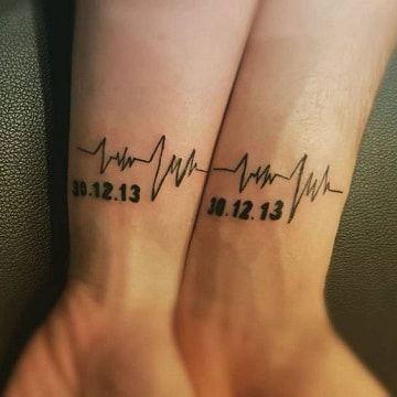 Tatuajes para madres mamas antebrazos latidos y fechas