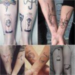 tatuajes emparejados en antebrazos varios motivos